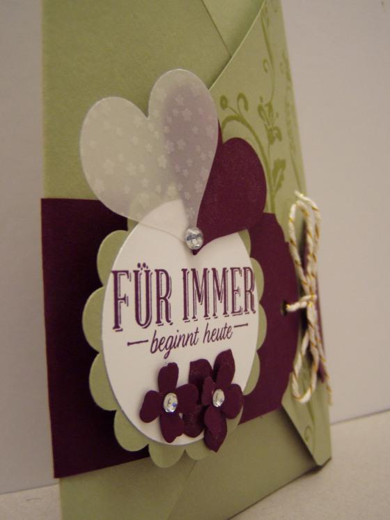 Umschlag - Detailansicht Blumen