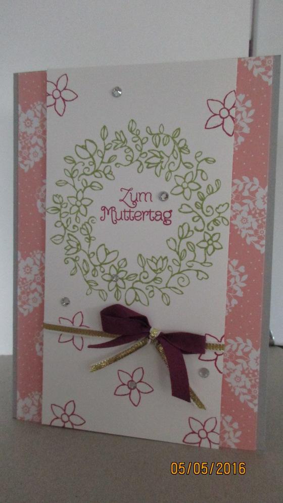 die Muttertagskarte mit Designerpapier Liebesblüten