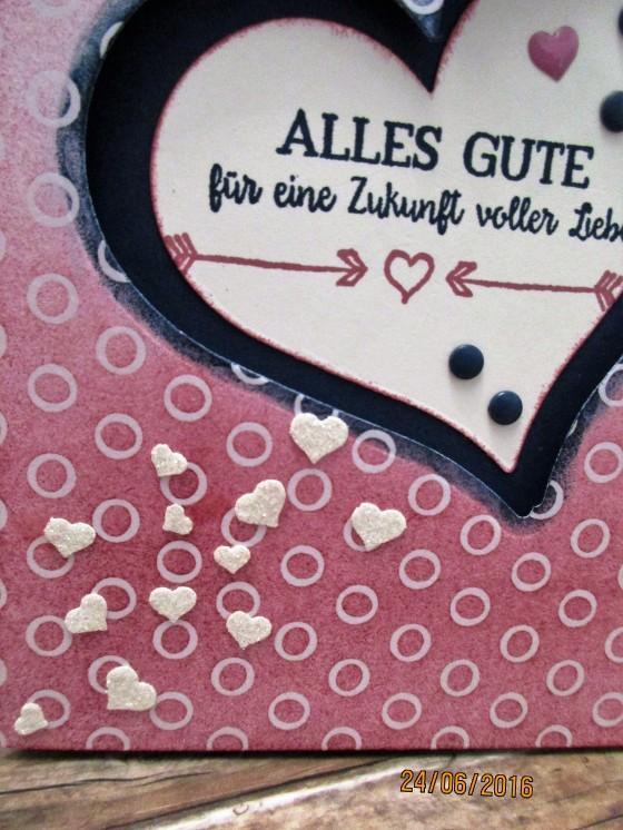 Das glitzernde Herzkonfetti