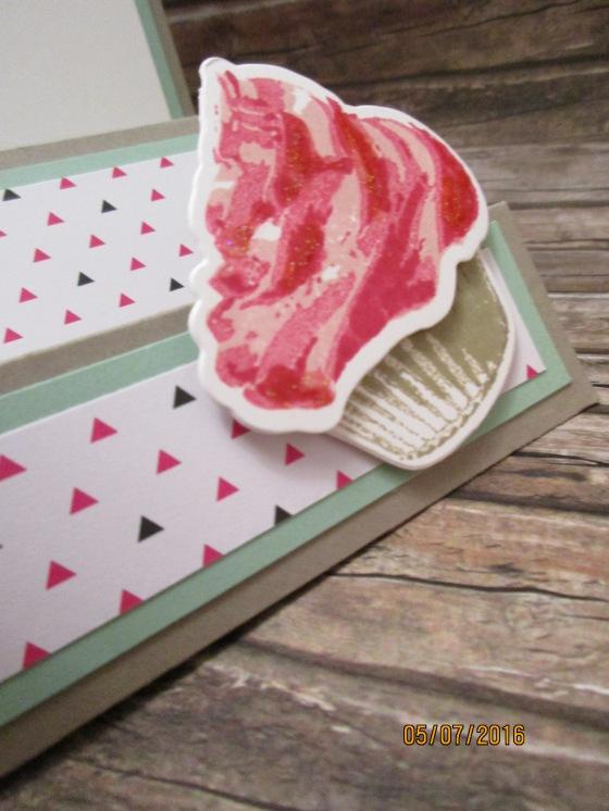 der Cupcake in Wassermelone