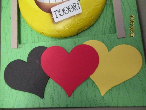 Die Herzen in Schwarz-Rot-Gold