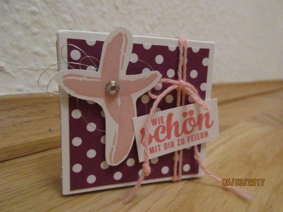 Gästegoodie zur Kommunion für ein Mädchen