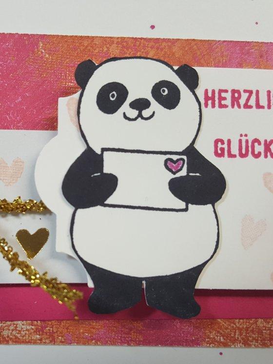 Party Pandas Doro Stempelt Handgemachte Karten
